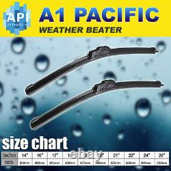 All season Bracketless J-HOOK Windshield Wiper Blades OEM QUALITY 20 & 20 RAM