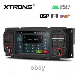 Android 10.0 5 Car GPS Radio Stereo 4-Core 2+16GB +OBD For Jeep Wrangler Dodge