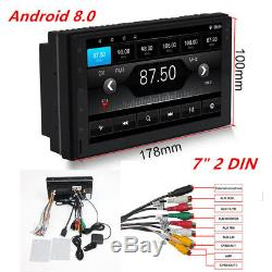 Android 8.0 Bluetooth Quad Core Car Stereo Radio 2 DIN 7 MP5 Player GPS Wifi FM