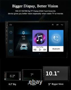 Android 8.1 Single 1Din 10.1 Quad-Core Car Bluetooth GPS Radio Stereo Player