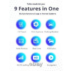 Android Dual Lens 7 in 1080P 4G Car DVR Camera Recorder Video Dash Cam GPS Navi