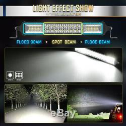 Autofeel 12 INCH 544W LED Light Bar Dual Row Flood Spot Beam Offroad Truck UTV