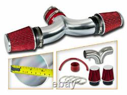 BCP RED 05-10 Grand Cherokee Commander 5.7 6.1 Dual Twins Air Intake Kit