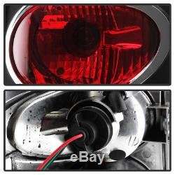 Black 1999-2004 Jeep Grand Cherokee Tail Lights Brake Lamps with LED Side Marker