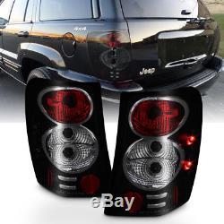 Black Smoke 1999-2004 Jeep Grand Cherokee Tail Lights Brake Lamps Set Left+Right