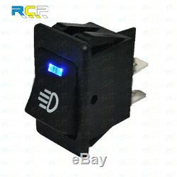 Blue LED On/Off Indicator Rocker Toggle Switch Driving Fog Lamp/Work Light Bar