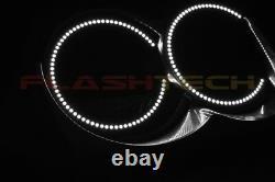 Bright White LED Headlight Halo Ring Kit for Jeep Grand Cherokee 05-10