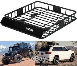 CURT 18115 Universal 42 x 37 Black Steel Roof Rack Rooftop Cargo Carrier New