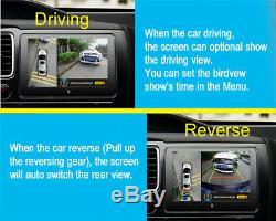 Car 360° Bird View Panoramic System Night Vision ADAS with Seamless Splice Cameras