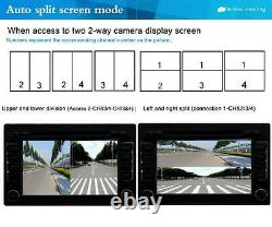 Car 360° Front/Rear/Left/Right Parking View DVR Cameras Image Quad Ways Monitor