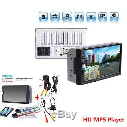 Car Auto 7 inch Double 2DIN MP5 MP3 Player Radio Stereo HD Touch Screen + Camera