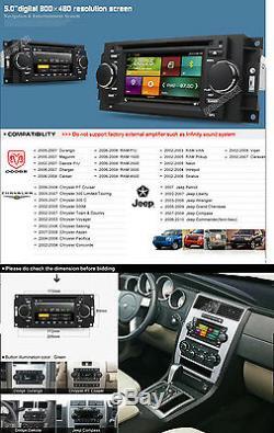 Car DVD GPS Navi Stereo For Dodge Ram Durango Caliber Charger Dakota Free Camera