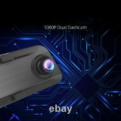 Car DVR 12 Touch Mirror Dual Lens Dash Cam Video Recorder With Rear View Camera