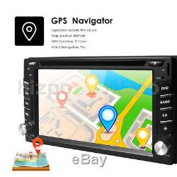 Car GPS 2Din Stereo Radio CD DVD Player Bluetooth with Map+Camera For Universal