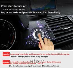 Car Keyless Entry Engine Start Alarm System Push Button Remote Starter Stop 12V