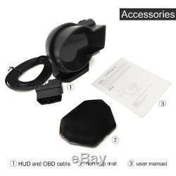 Car OBD2 Gauge HD LCD Screen HUD Head-Up Digital Display Boost Data Scan Tool