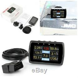 Car OBD2 Gauge With Holder Driving Speed Meter Water Temperature Digital Display
