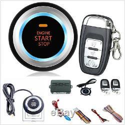 Car SUV Alarm System Security Push Button Remote Engine Start+LED sensor lights