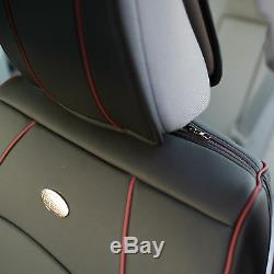Car SUV Truck Leatherette Seat Cushion Covers Front Bucket Black For Motors