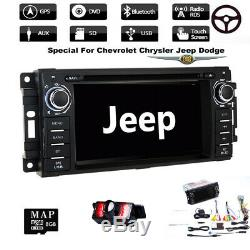 Car Stereo Radio DVD Player GPS Navigation For Jeep Wrangler Unlimited 2007-2012