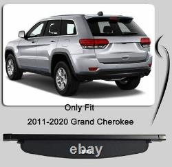 Cargo Cover For 2011-2021 Jeep Grand Cherokee Rear Trunk Shade Tonneau Shield