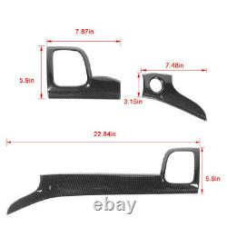 Center Console Dashboard Air Vent Cover Trim for Jeep Grand Cherokee 11+ Carbon
