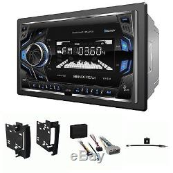 Chrysler Jeep Dodge Power Acoustik Double Din Radio Stereo + Kit & Harness