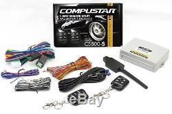 Compustar Car Auto Remote Start Starter w\ Keyless Entry & Bypass Module Bundle