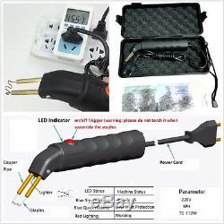 DIY Car Off-Road Bumper Welder Gun Stapler Plastic Repair Kit & 500 Pcs Staples