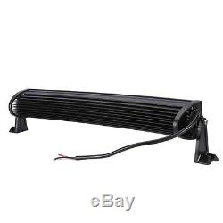 DUAL ROW 5D 22Inch Curved OSRAM LED Work Light Bar Combo Offroad Driving CAO