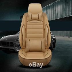 Deluxe Leather Seat Cover Full Set Cushion 5-Seats For Car Interior Accessories
