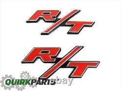 Dodge Jeep Chrysler RT R/T Emblem Nameplate Badge Set Of 2 OEM NEW MOPAR GENUINE