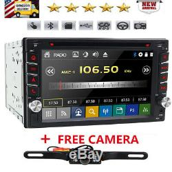 Double 2Din 6.2 Car Stereo Radio DVD Player Bluetooth MP3 AUX GPS+Backup Camera