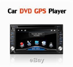 Double 2Din HD Car GPS Stereo DVD CD Player Bluetooth Dash Radio with 8G Free Maps
