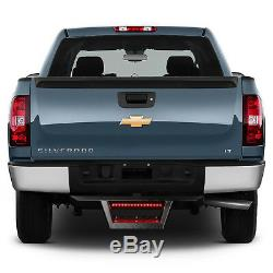 FOR 2 TOW TRAILER RECEIVER BLACK HITCH STEP BAR BUMPER GUARD WithLED BRAKE LIGHT