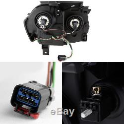 Fit 05-07 Jeep Grand Cherokee Black Smoke Headlights Front Lamps Replacement