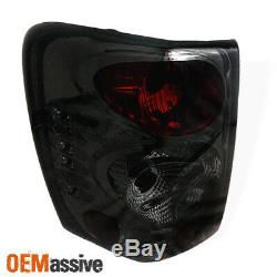 Fits 1999-2004 Jeep Grand Cherokee Smoked Tail Lights Brake Lamps Left+right