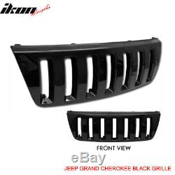 Fits 99-03 Jeep Grand Cherokee Wj Front Black Hood Grill Grille H2