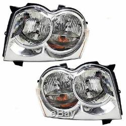 Fits For 2005 2006 2007 Jeep Grand Cherokee Headlights Right & Left Pair