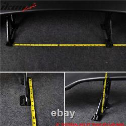Fits Nissan 57 Inch ABS Adjustable GT BLK Rear Span Trunk Spoiler Wing Sports