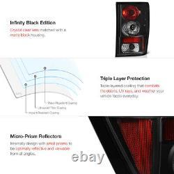 For 05 06 Jeep Grand Cherokee WK Black Projector Headlights Tail Light Halo Rim