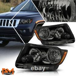 For 11-13 Jeep Grand Cherokee Headlight/Lamps Replacement Amber Corner Tinted