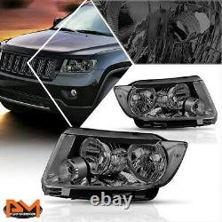 For 11-13 Jeep Grand Cherokee Headlight/Lamps Replacement Clear Corner Smoked