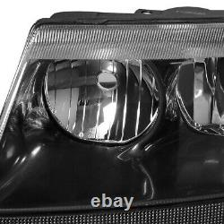 For 1999-2004 Jeep Grand Cherokee Wj Laredo Limited Black Clear Headlights 4x4