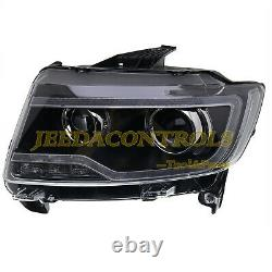 For 2011-2013 Jeep Grand Cherokee/Compass Headlights With Bi-xenon Projector