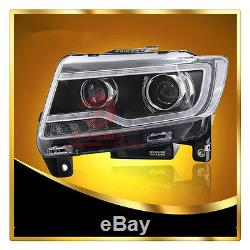 for 2011 2013 jeep grand cherokee compass headlights with bi xenon projector. Black Bedroom Furniture Sets. Home Design Ideas