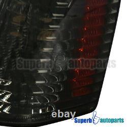 For 93-96 Jeep Grand Cherokee Head Lights+Bumper Lamps+Corner Lights 6PC Smoke
