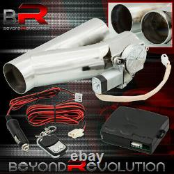 For Chevy 3 Elecrtic Catback Exhaust E-Cutout Y-Pipe Piping + Switch + Harness