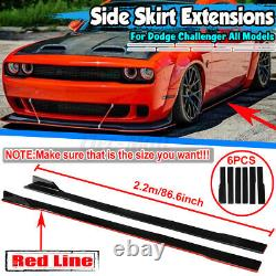 For Dodge Challenger Scat Pack SRT R/T 2.2m Side Skirt Extension Rocker Panel