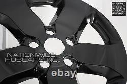 For Jeep Grand Cherokee 2011 2012 2013 Black 18 Wheel Skins Hub Caps Rim Covers
